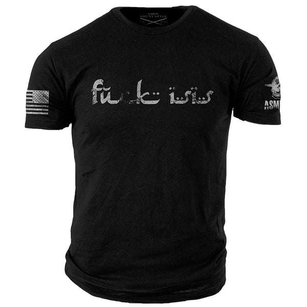 F@ck ISIS T-Shirt- ASMDSS Men's Graphic Black Tee Shirt - Star Spangled 1776