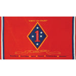 First Marine Division Polyester 3 X 5 Military Flag - Star Spangled 1776