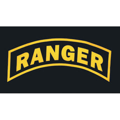 Army Ranger Polyester 3 X 5 Military Flag- Black