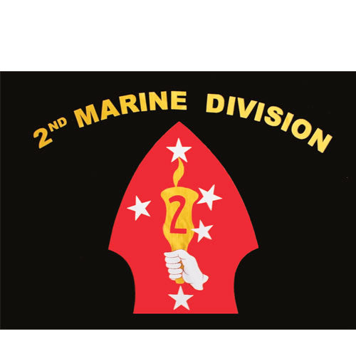 Second Marine Division Polyester 3 X 5 Military Flag - Star Spangled 1776