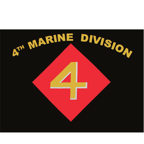 Fourth Marine Division Polyester 3 X 5 Military Flag - Star Spangled 1776