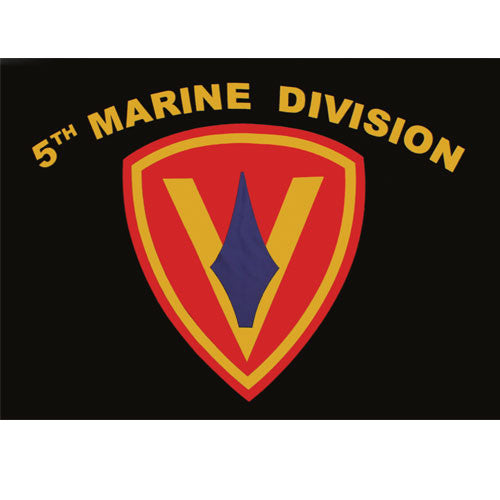 Fifth Marine Division Polyester 3 X 5 Military Flag - Star Spangled 1776