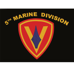 Fifth Marine Division Polyester 3 X 5 Military Flag