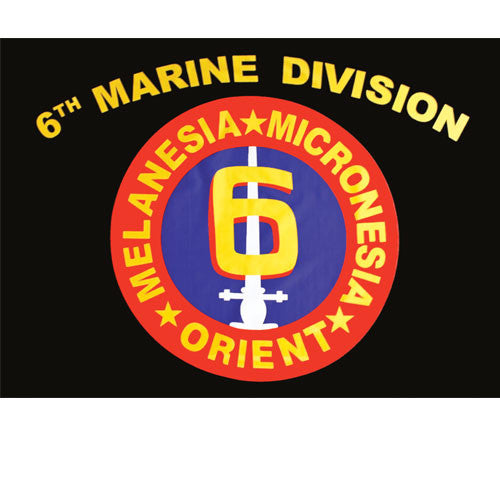 Sixth Marine Division Polyester 3 X 5 Military Flag - Star Spangled 1776