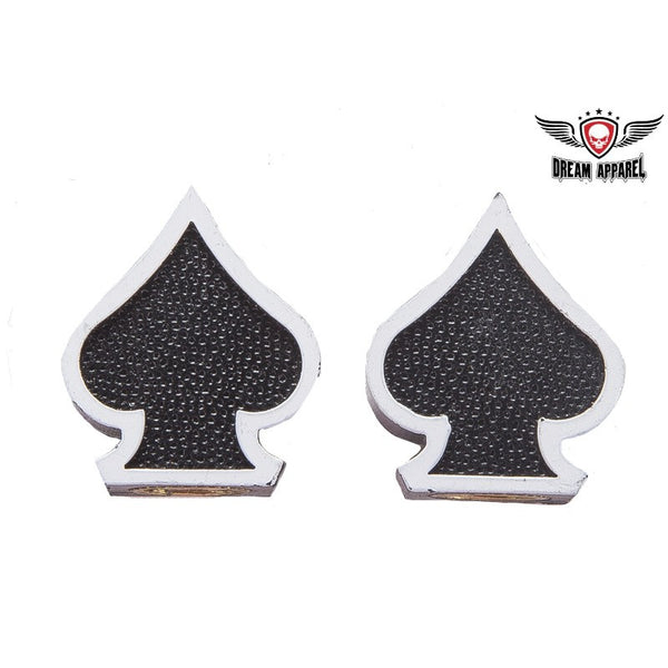 Black Spades Valve Caps (2 Pk) - Star Spangled 1776