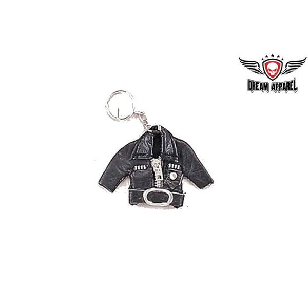 Black Jacket Leather Key Chain - Star Spangled 1776