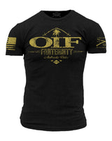 OIF Fraternity T-Shirt- Grunt Style Military Graphic Tee Shirt - Star Spangled 1776