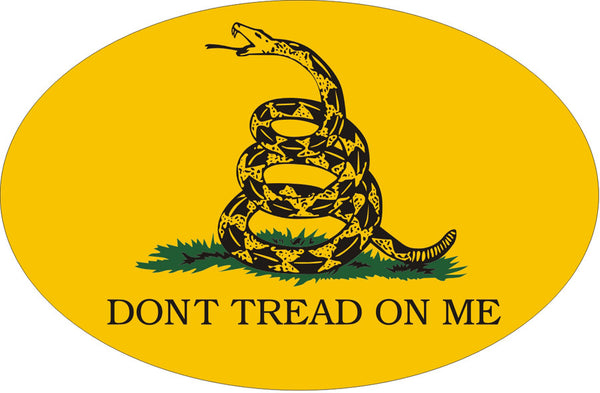 Don't Tread On Me Gadsden Oval Magnet - Star Spangled LLC