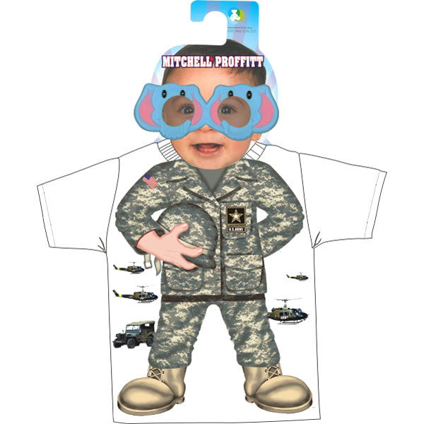 Army ACU Pattern Toddler Shirt and Sunglasses Gift Pack - Star Spangled 1776