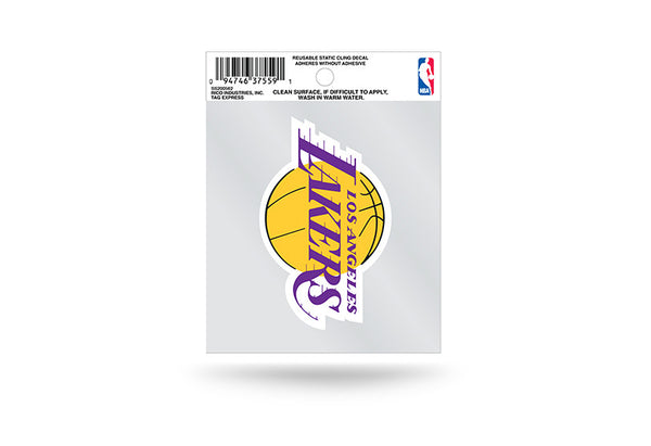 Los Angeles Lakers NBA 3.5 X 3.75 Small Re-usable Static Cling Decal - Star Spangled 1776