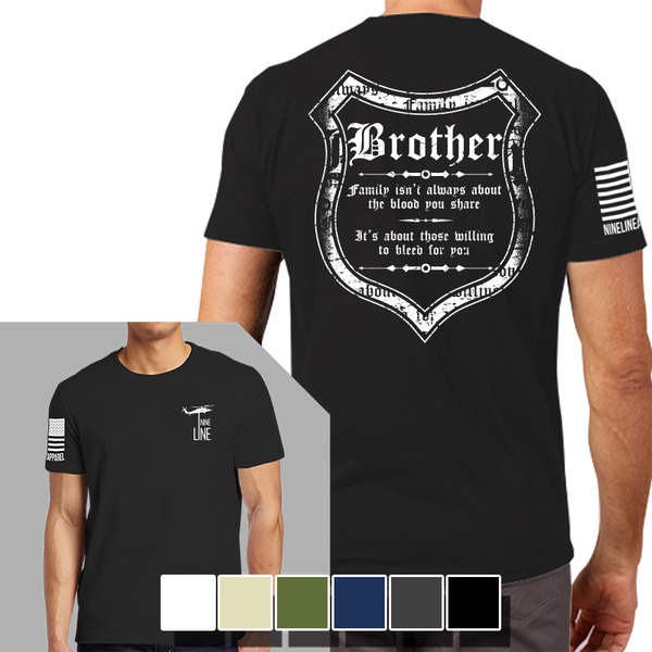 Blood And Family T-Shirt- Nine Line Men's Short Sleeve Tee Shirt - Star Spangled 1776