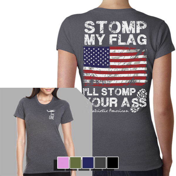 I'll Stomp You T-Shirt- Nine Line Women's Tee Shirt - Star Spangled 1776