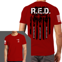 Remember Everyone Deployed T-Shirt- Nine Line Men's Tee Shirt Red - Star Spangled 1776