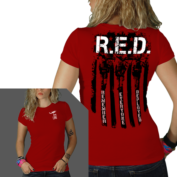 Remember Everyone Deployed T-Shirt-  Nine Line Women's Tee Shirt - Star Spangled 1776