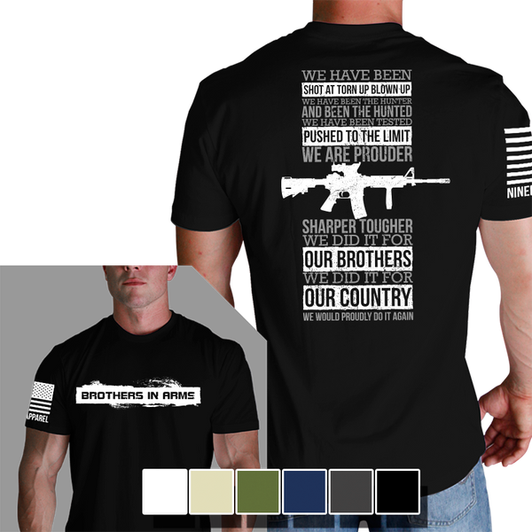 Why We Fight Black T-Shirt- Nine Line Men's Short Sleeve Tee Shirt - Star Spangled 1776