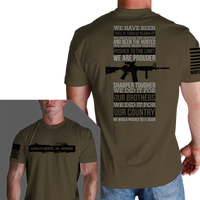 Why We Fight OD Green T-Shirt- Nine Line Men's Short Sleeve Tee Shirt - Star Spangled 1776