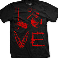 Love T-Shirt- Ranger Up Military Black Tee Shirt - Star Spangled 1776