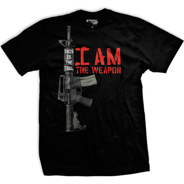 I Am the Weapon T-Shirt- Ranger Up Men's Black Tee Shirt - Star Spangled 1776