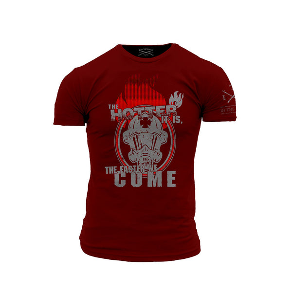 Hotter T-Shirt- Grunt Style ITA Men's Red Tee Shirt - Star Spangled 1776