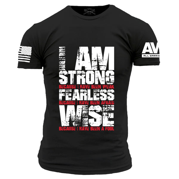 I'm Strong T-Shirt- Grunt Style AWN Men's Black Tee Shirt - Star Spangled 1776