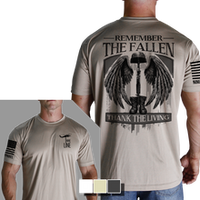 Remember The Fallen T-Shirt- Nine Line Men's Short Sleeve Tee Shirt - Star Spangled 1776