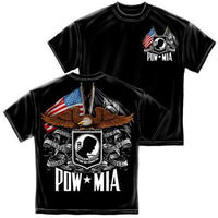 Double Flag Eagle POW T-Shirt - Star Spangled 1776