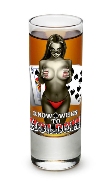 Know When To Hold Them Shooter Shot Glass - Star Spangled 1776