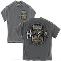 Moon Shine Mason Jar Silver Foil T-Shirt - Star Spangled 1776