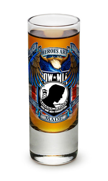 POW True Heroes Shooter Shot Glass - Star Spangled 1776