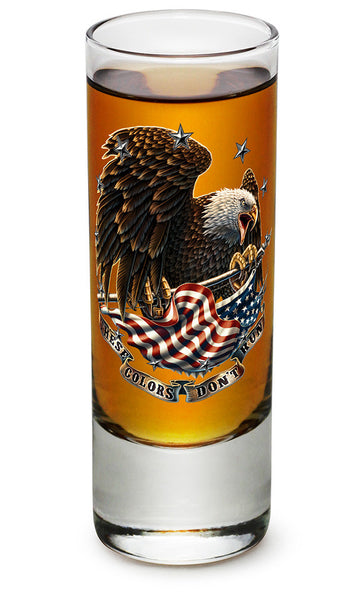 These Colors Don't Run Shooter Shot Glass - Star Spangled 1776