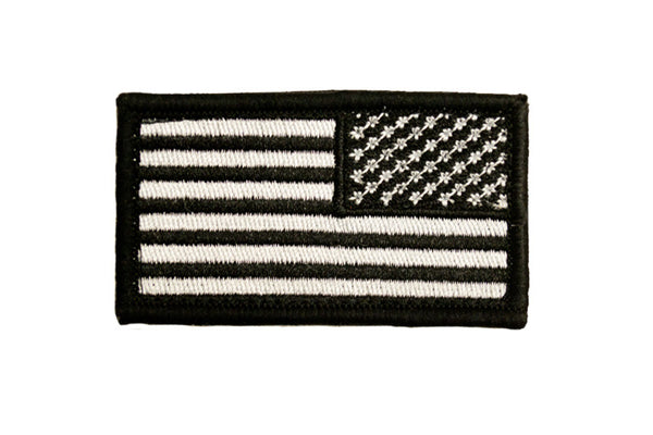 Reverse Black and White American Flag Youth Patch - Star Spangled 1776