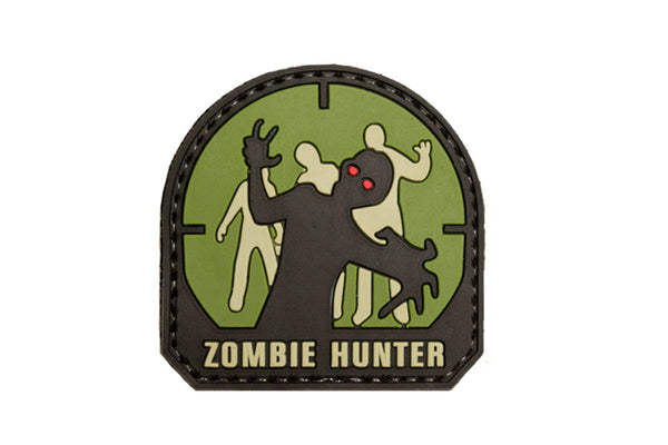 Zombie Hunter PVC Hook Back Patch - Green and Black - Star Spangled 1776