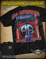 Army 82nd Airborne T-Shirt- 7.62 Design Military Men's Short Sleeve Tee Shirt - Star Spangled 1776