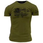 America Vintage T-Shirt- Grunt Style Short Sleeve Tee Shirt - Star Spangled 1776