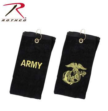 Army Military Embroidered Golf Towel - Star Spangled 1776