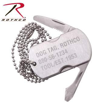 Dog Tag Stainless Steel Multi-Tool - Star Spangled 1776