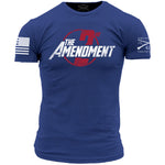 2nd Amendment Assemble T-Shirt- Grunt Style Men's Short Sleeve Tee Shirt - Star Spangled 1776