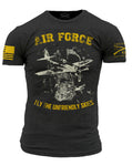 Air Force Branch T-Shirt- Grunt Style Men's Short Sleeve Tee Shirt - Star Spangled 1776
