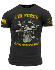 Air Force Branch T-Shirt- Grunt Style Men's Short Sleeve Tee Shirt