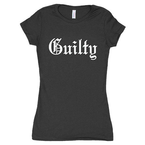 Guilty T-Shirt- Women's Cotton Black Tee Shirt - Star Spangled 1776