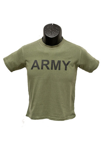 Army Youth Military T-Shirt- OD Green Tee Shirt - Star Spangled 1776
