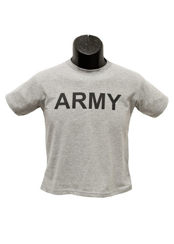 Army Youth Military PT T-Shirt- Grey - Star Spangled 1776