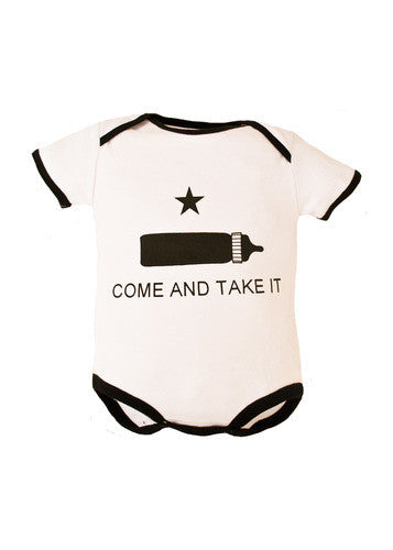 Come And Take It Infant Cotton Onesie Bodysuit - Star Spangled 1776