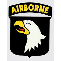 101st Airborne Division Shield Army Decal - Star Spangled 1776