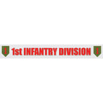 1st Infantry Division Window Strip Decal - Star Spangled 1776