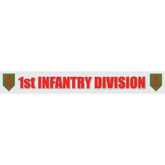1st Infantry Division Window Strip Decal