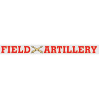 Field Artillery Window Strip Decal - Star Spangled 1776