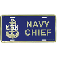 Navy Chief Metal 6 X 12 License Plate - Star Spangled 1776