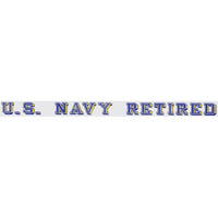 Navy Retired Window Strip Decal - Star Spangled 1776