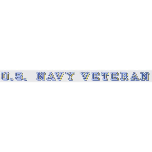 Navy Veteran Window Strip Decal - Star Spangled 1776